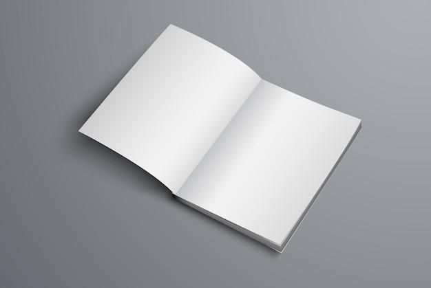 Le catalogue est ouvert sur la première page. un modèle de brochure réaliste