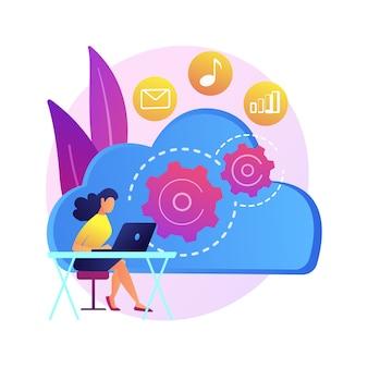 Catalogue en ligne. plateforme numérique pour les sauvegardes. stockez le lecteur, la bibliothèque de données, l'archive de documents. stockage dans le cloud pour les informations. base de données des médias. illustration de métaphore concept isolé.