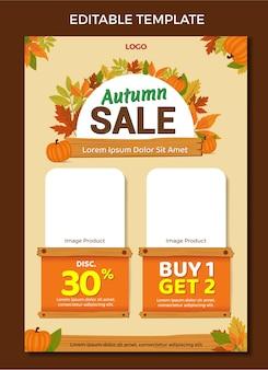 Catalogue mailer design template vente d'automne vecteur