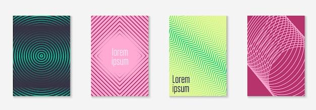 Catalogue moderne. certificat en demi-teinte, présentation, journal, mise en page de l'application web. jaune et rose. catalogue moderne avec une ligne géométrique minimaliste et des formes tendance.