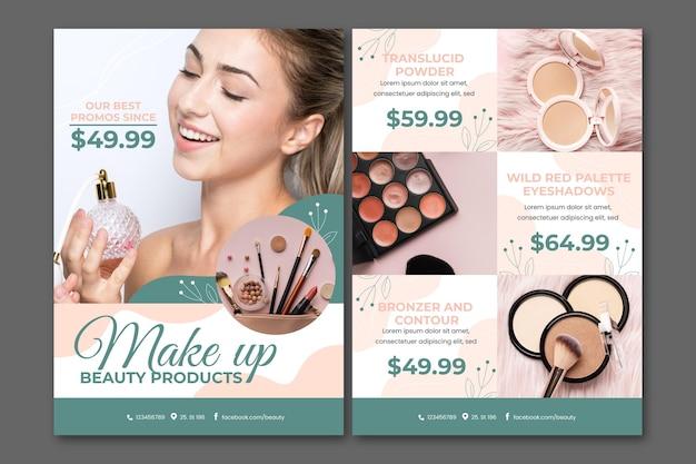 Catalogue de produits de beauté en dégradé de couleurs