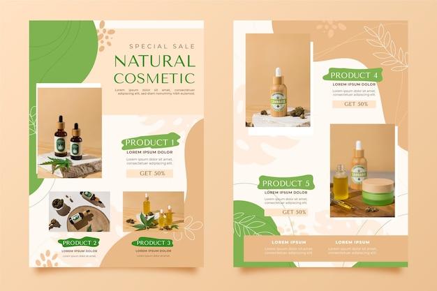 Catalogue de produits de beauté avec photo
