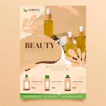 Catalogue de produits de beauté pour différents cosmétiques