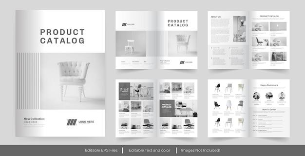 Catalogue De Produits Ou Conception De Catalogue Vecteur Premium