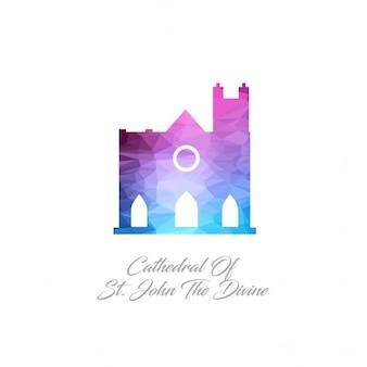 Cathédrale saint-jean le monument divin polygon logo