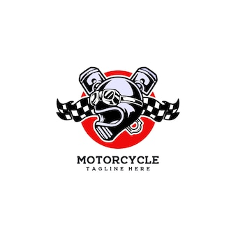 Cavalier de moto d'emblème de club de moto