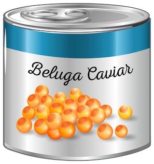 Caviar de beluga en aluminium