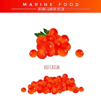 Caviar rouge. marine food