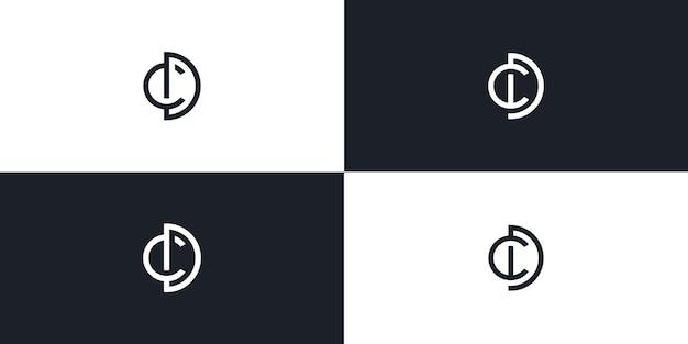 Cd lettre initiale logo icône vector illustration
