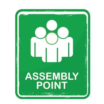 Ceci est un panneau ou une affiche de point de rassemblement