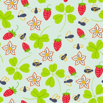 Cécidomyies de fraises de modèle d'été