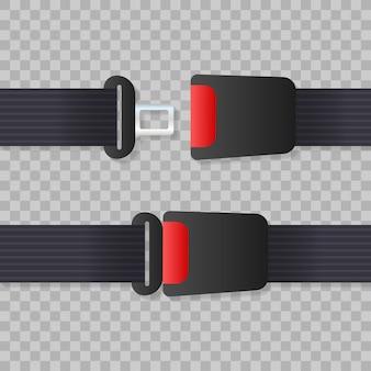 Ceinture de sécurité. ceinture de sécurité de mouvement sur la voiture