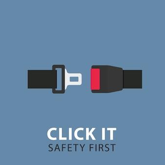Ceinture de sécurité. ceinture de sécurité