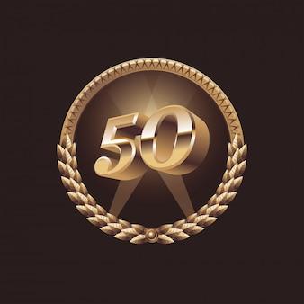 Célébration d'anniversaire de 50 ans.