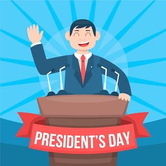 Célébration colorée de la journée du président