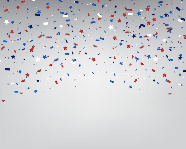 Célébration de confettis pour le jour de l'indépendance