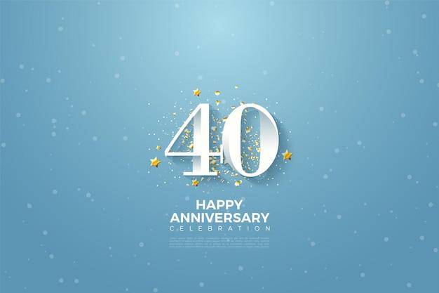 Célébration du 40e anniversaire.