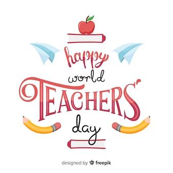 Célébration du dessin animé de la journée mondiale des enseignants