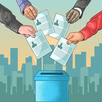 Célébration du jour de l'élection de la démocratie