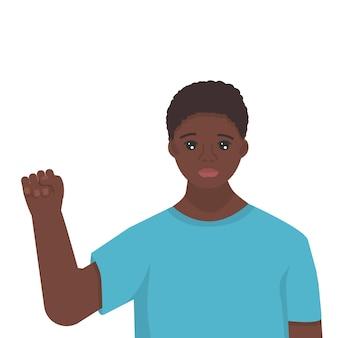 Célébration du mois de l'histoire des noirs joli jeune homme africain