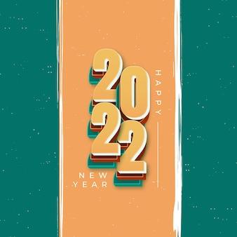 Célébration du nouvel an 2022 instagram et publication facebook