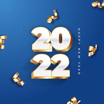 Célébration du nouvel an 2022, publication dorée sur instagram et facebook