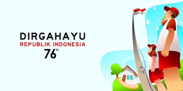 Célébration de l'étudiant célébrant la joyeuse fête de l'indépendance de l'indonésie à l'école