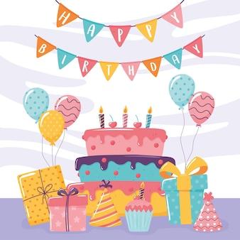 Célébration de l'événement joyeux anniversaire