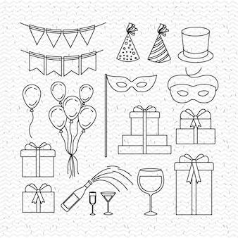Célébration de la fête définie des icônes