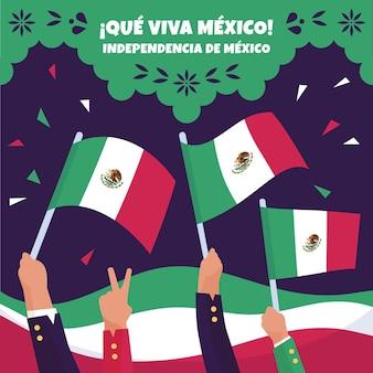 Célébration de la fête de l'indépendance du mexique