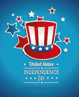 Célébration de la fête de l'indépendance des états-unis
