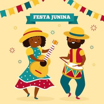Célébration de la fête junina