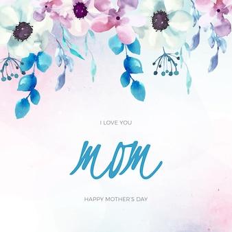 Célébration de la fête des mères de style floral