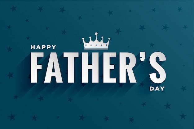 Célébration de la fête des pères heureux avec forme de couronne
