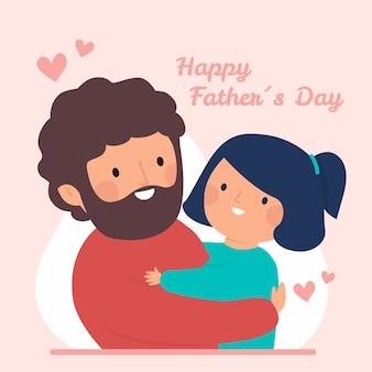 Célébration de la fête des pères style dessiné à la main