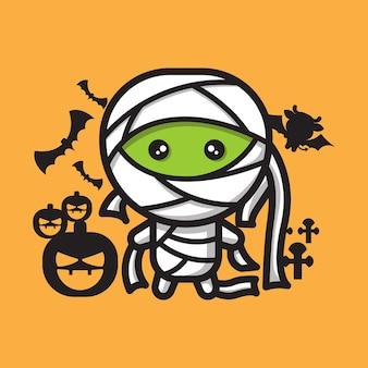 Célébration d'halloween de caractère mignon de maman