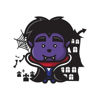 Célébration d'halloween de personnage mignon