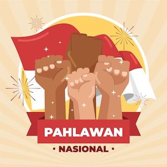 Célébration d'illustration de pahlawan