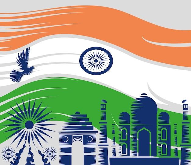 Célébration de l'indépendance de l'inde