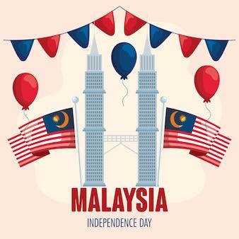 Célébration de l'indépendance de la malaisie