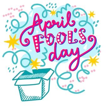 Célébration de la journée du poisson d'avril dessinée à la main