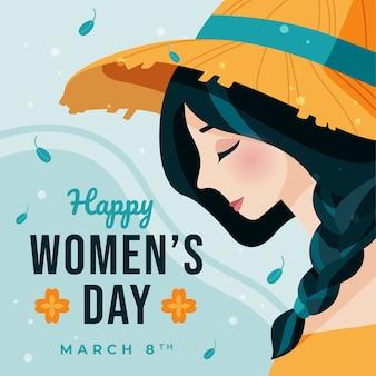 Célébration de la journée des femmes au design plat