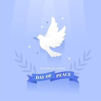 Célébration de la journée de la paix design plat