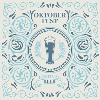 Célébration De L'oktoberfest De Style Vintage Vecteur gratuit