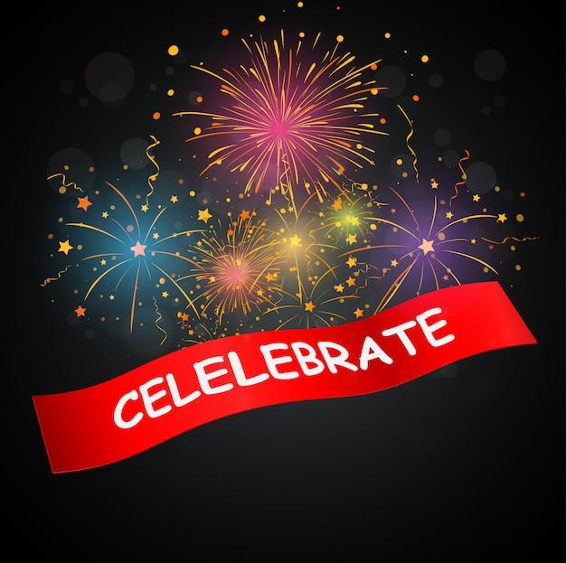 Célébrations avec feux d'artifice