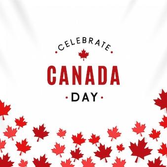 Célébrer l'arrière-plan de la fête du canada