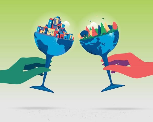 Célébrer un brillant avenir pour notre monde