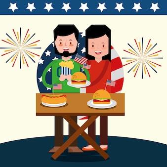Célébrer le couple en pique-nique