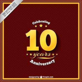 Célébrer dix ans d'anniversaire