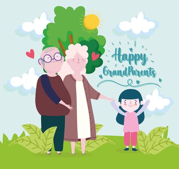 Célébrer les grands-parents heureux